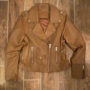 Blank NYC Moto faux leather jacket